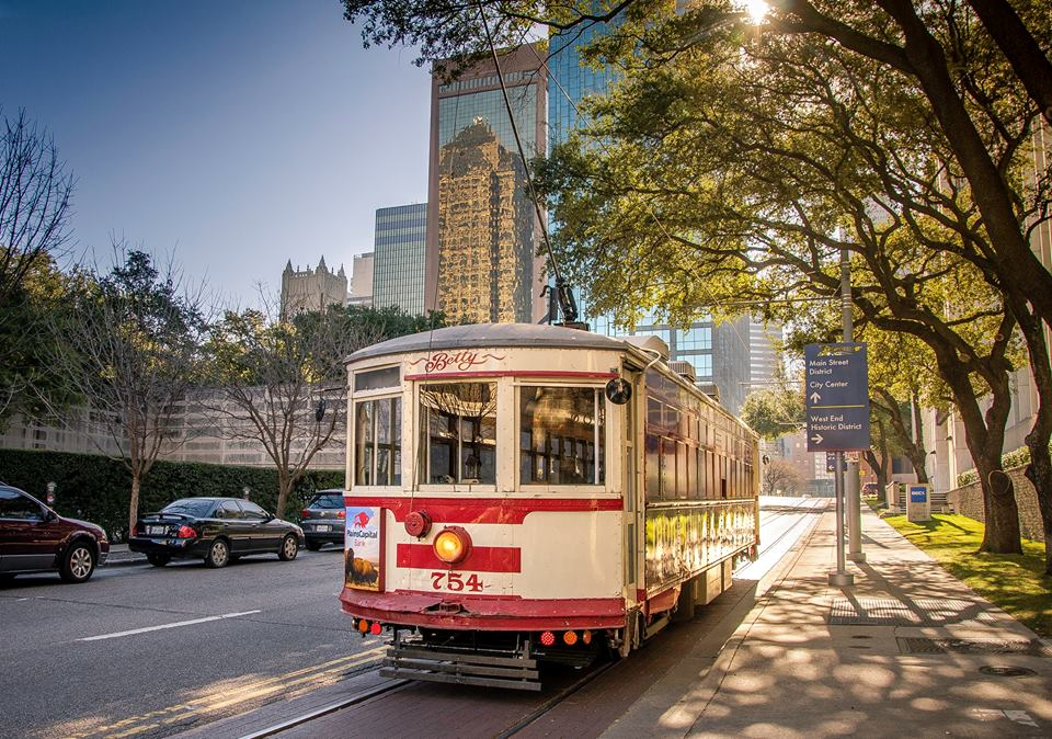 the Dallas trolley is one of the best things to do in Dallas with kids.