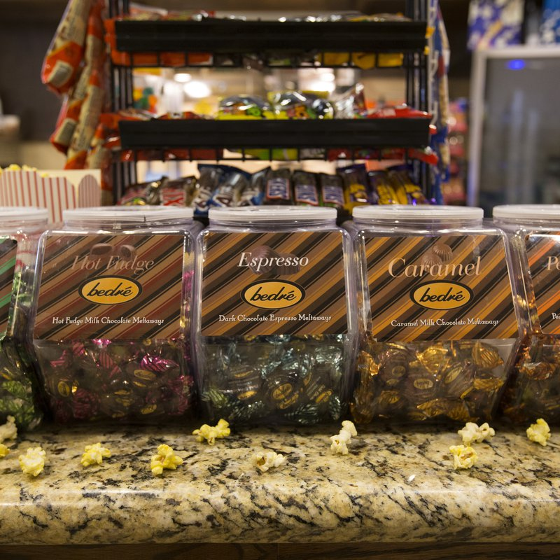 Display cases of Bedre chocolate, a thing to do in Southern Oklahoma