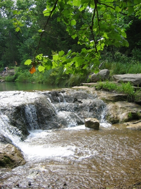 Small waterfalls in Chickasaw National Recreation Area, a fun place to explore in Southern Oklahoma