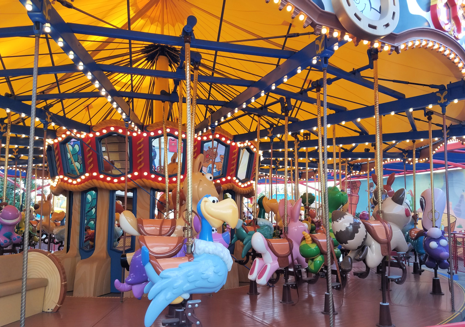 Jessie's Critter Carousel at Disney California Adventure theme park