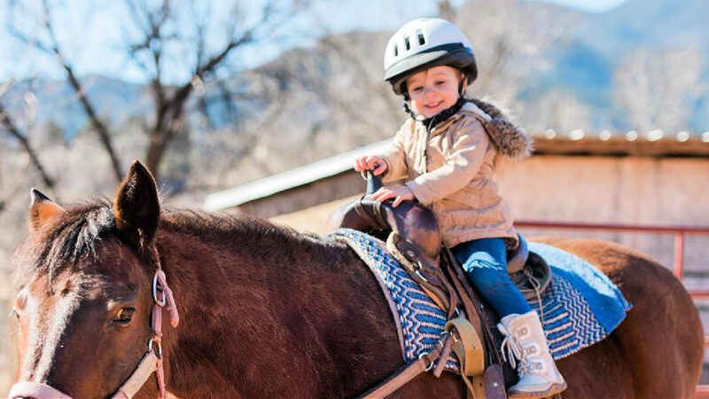 Even the littles can enjoy horseback riding at Academy Riding Stables on pony rides, supervised by the wrangler. Photo: Academy Riding Stables