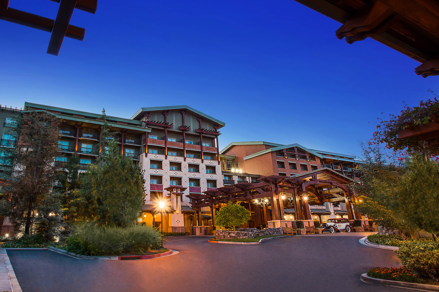 Front of Disney's Grand Californian hotel