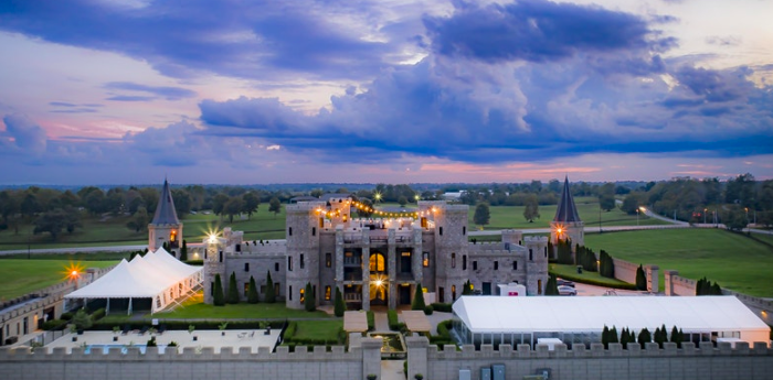 Aerial view of the Kentucky Castle in Lexington.