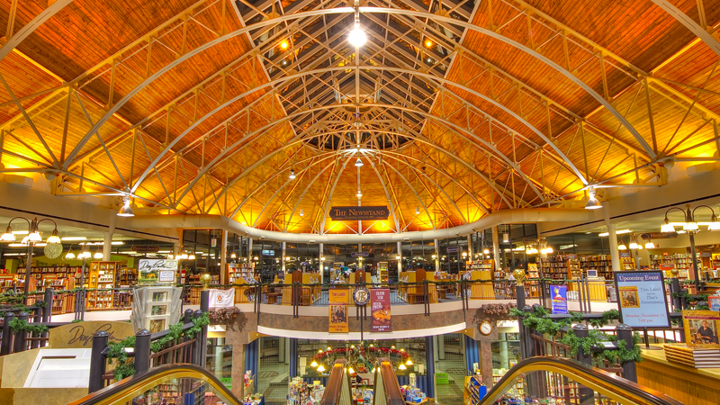 Interior of Joseph-Beth bookstore, one of the free places to explore in Lexington KY