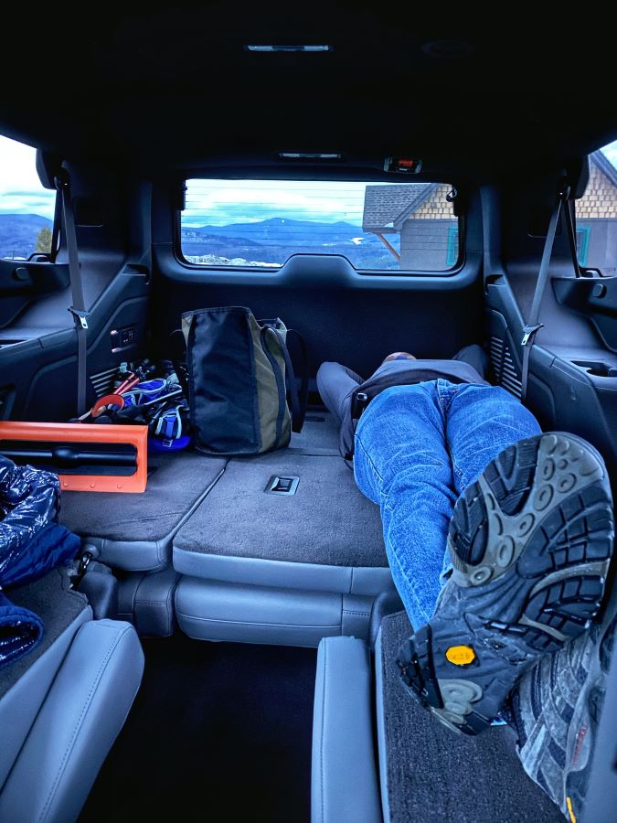 Room for a nap in the Chevy Tahoe Z71