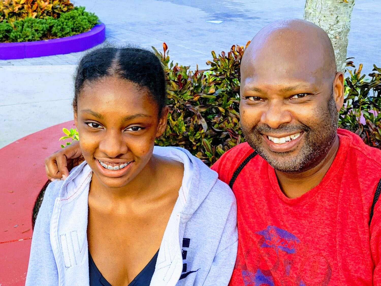 Teen daughter with dad at LEGOLAND Florida, a fun place to visit with teens and tweens