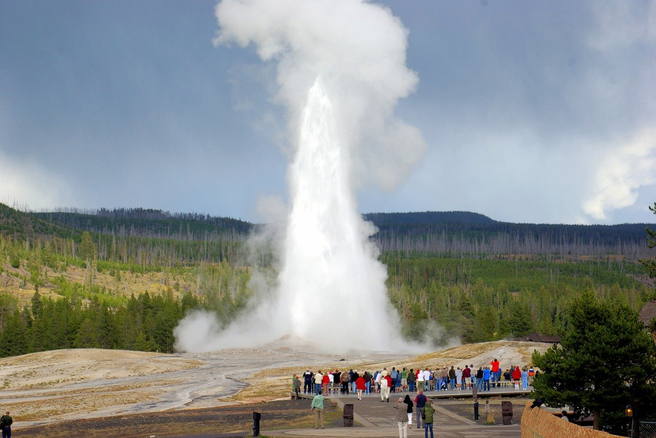 Old Faithful geyser eruption in Yellowstone National Park one of things you need to see when visiting