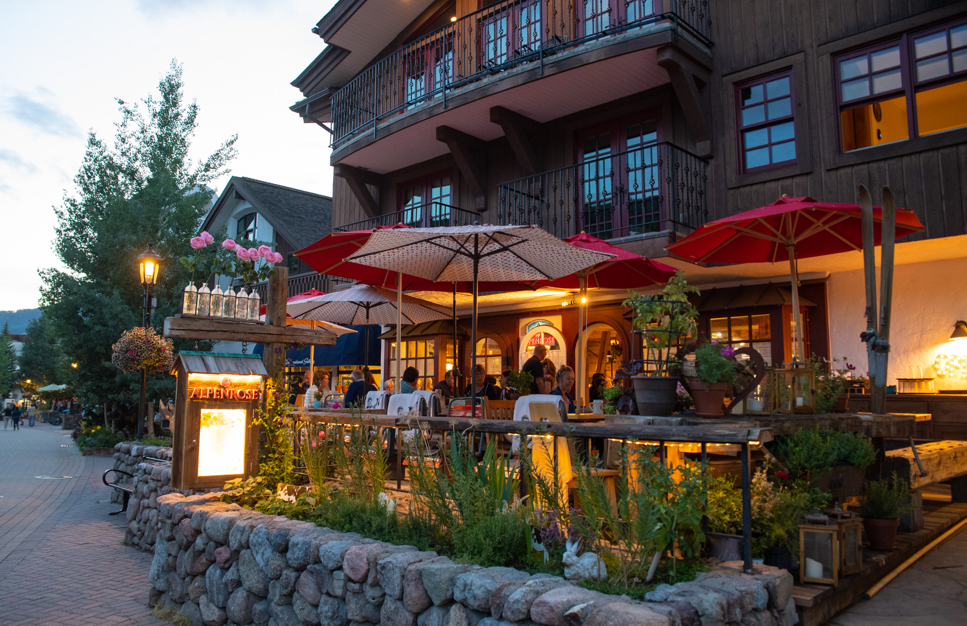 restaurant patio in Vail CO