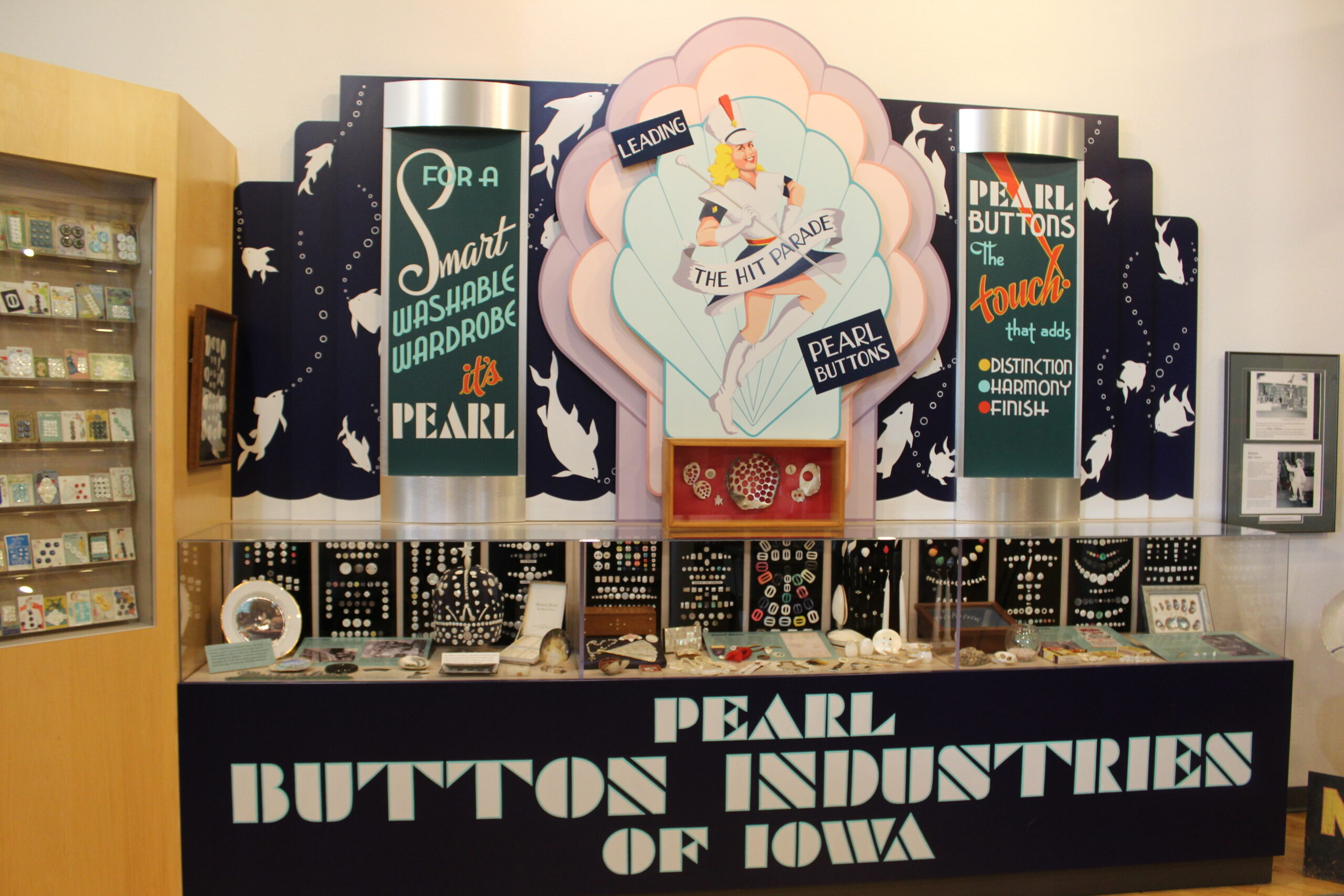 exhibit at the National Pearl Button Museum in Muscatine