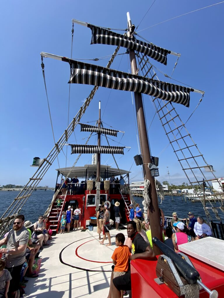 Pirate ship for the Sea Dragon Pirate Cruise, a fun thing to do in PCB