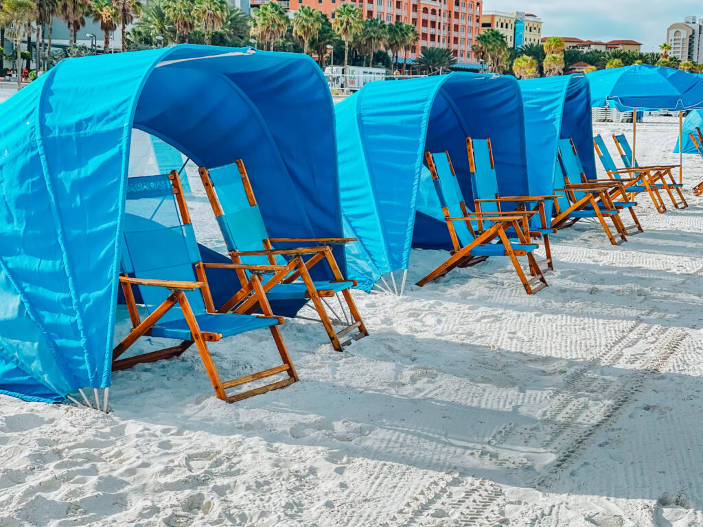 cabana rentals on the beach things to do in clearwater Florida