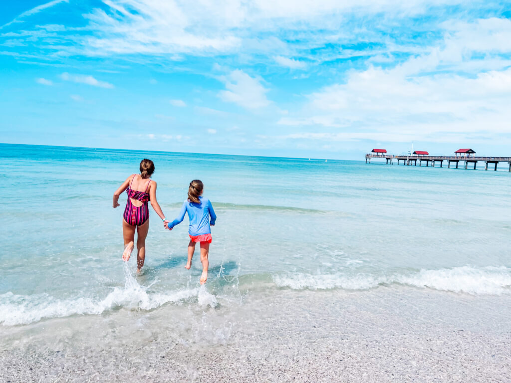 kids on the beach in clearwater, Florida