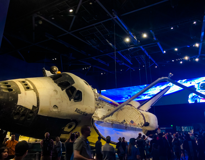 Visit the Kennedy Space Center during a rainy day in Orlando