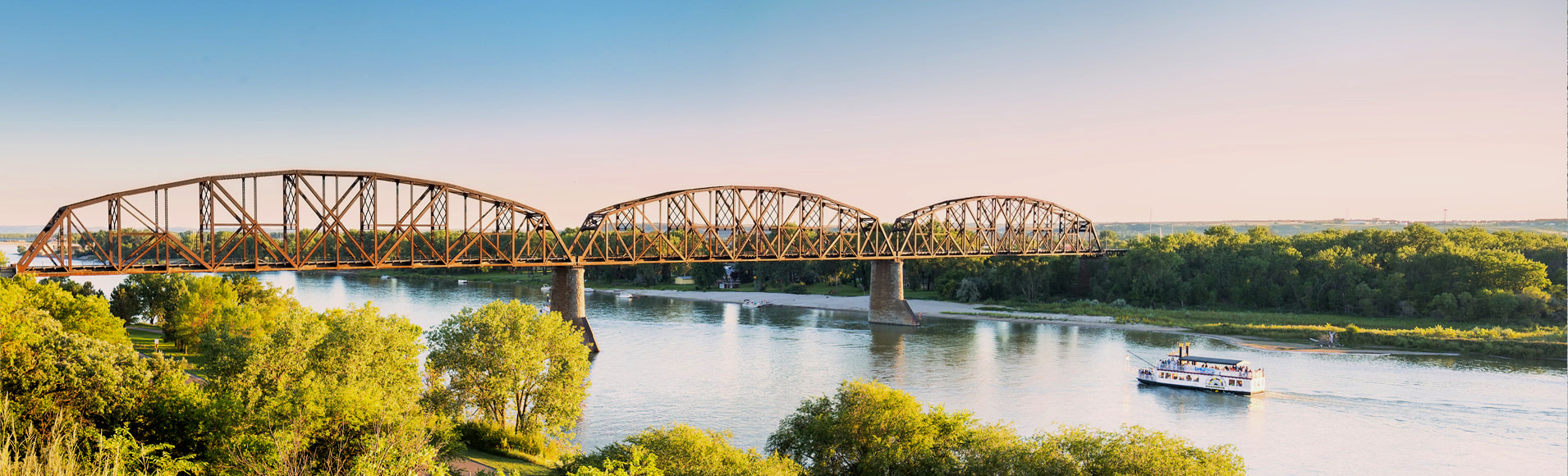 Cruise the majestic Missouri in Bismarck, ND. Photo: Lewis & Clark Riverboat