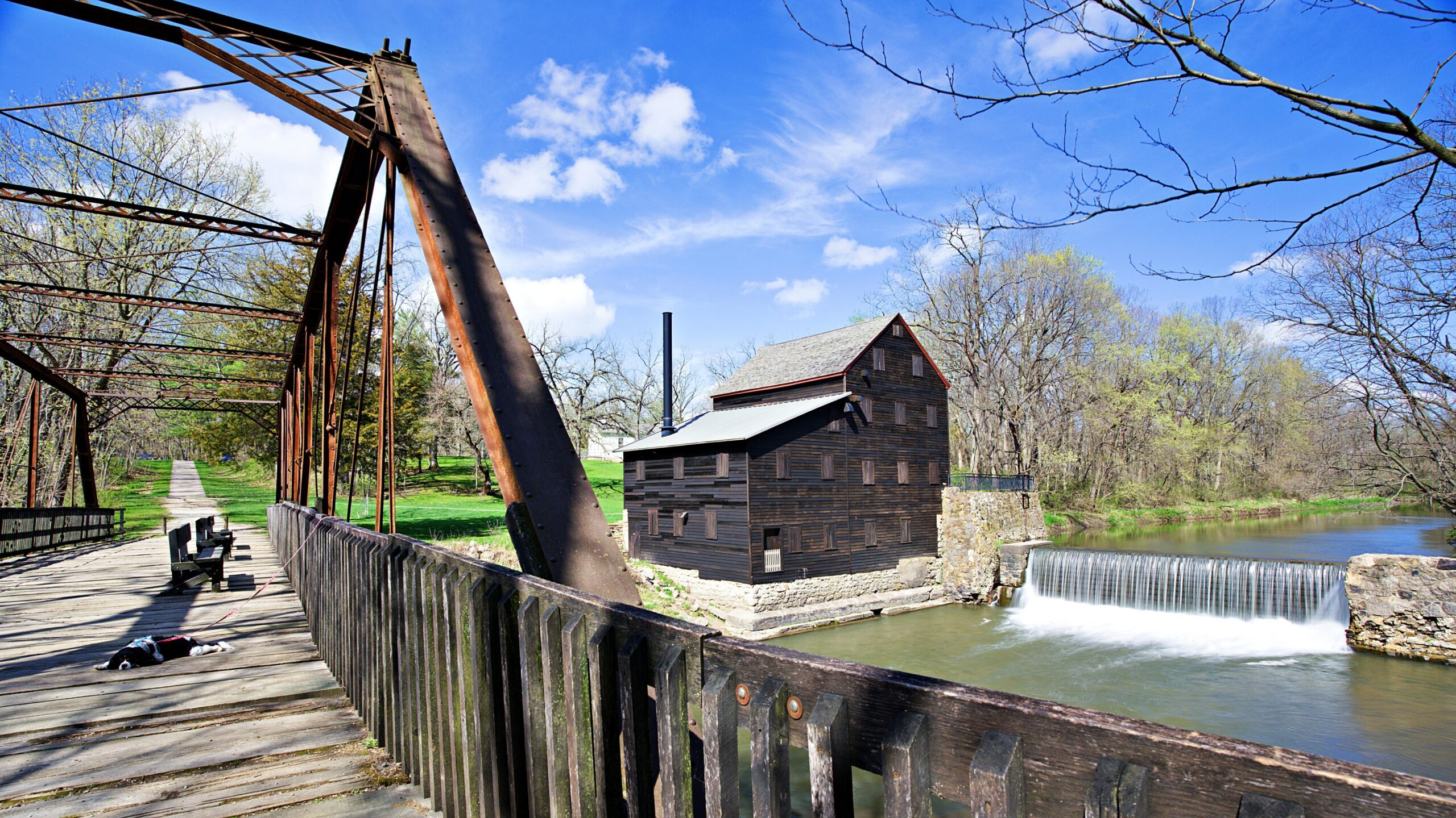 Pine Creek Grist Mill - one of the free things to do and see in Muscatine