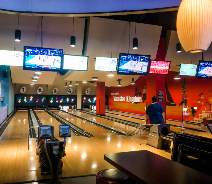 Splitsville at Disney Springs is a fun rainy day thing to do in Orlando