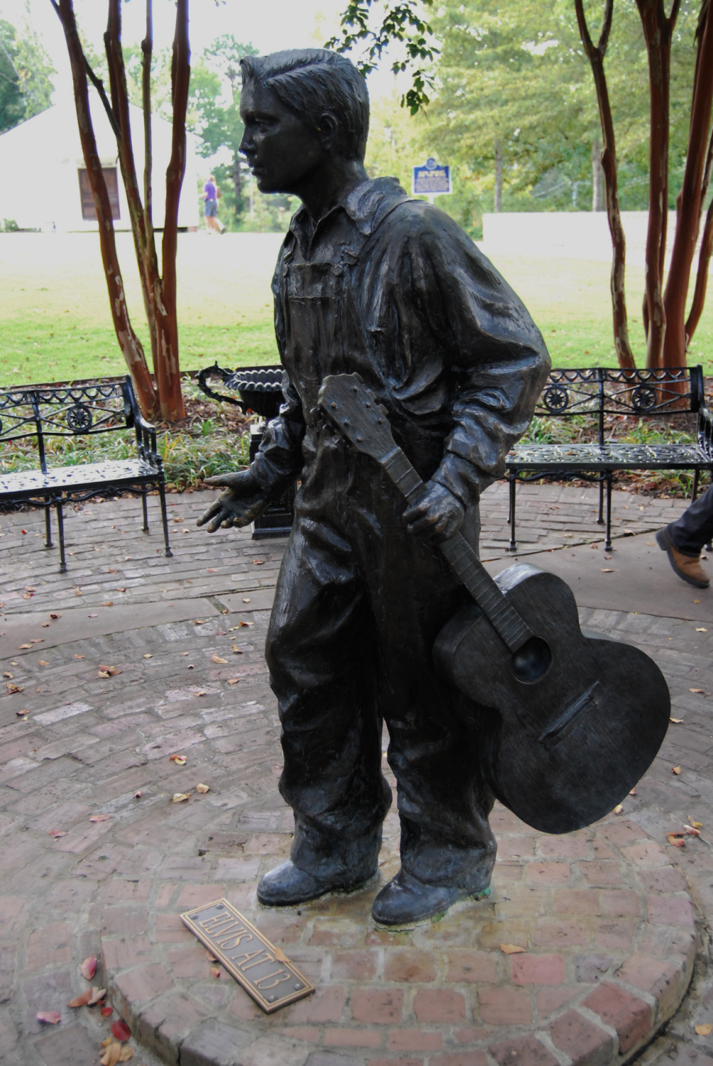 This statue of 13 year-old-Elvis is at The Elvis Presley Birthplace museum, Photo: Diana Rowe