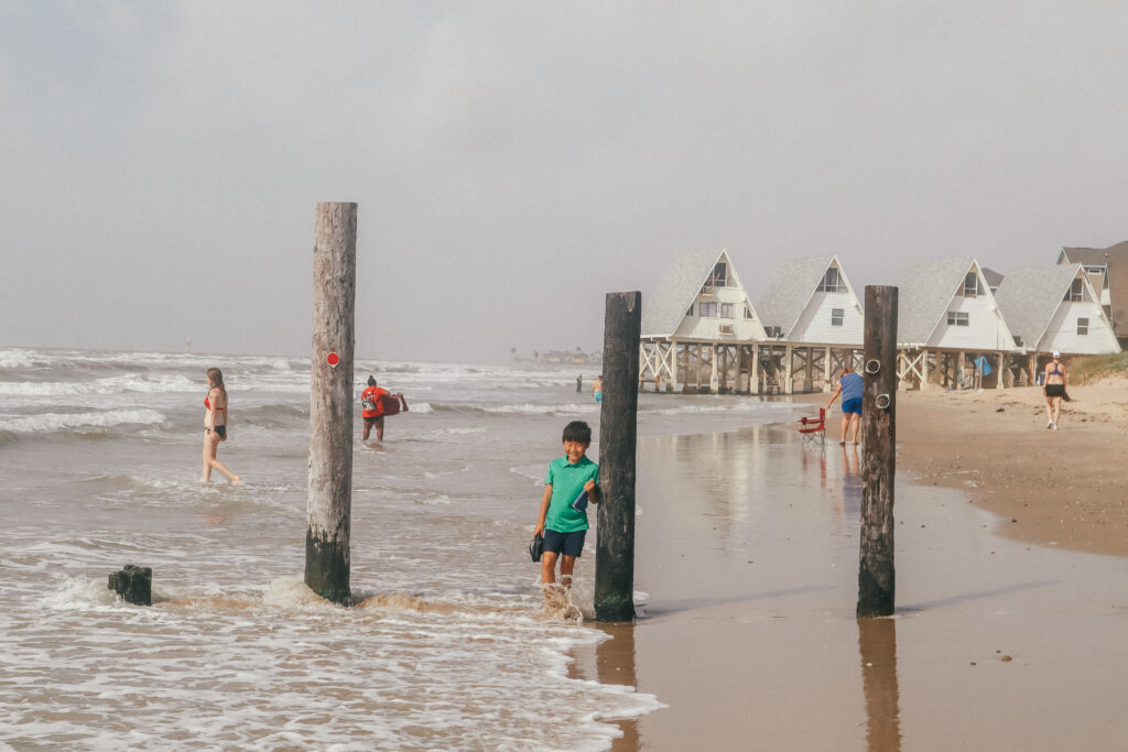 Surfside Beach is one of the best beaches in Texas but one of the least populated.