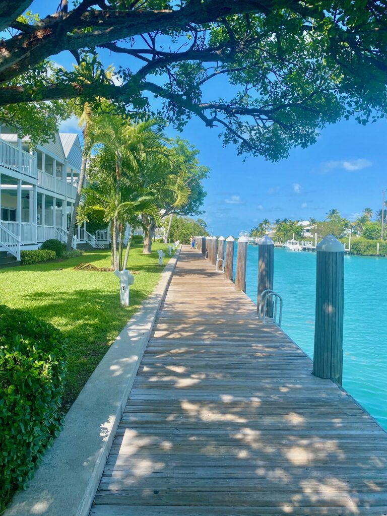 Water view from the Hawks Cay Resort villas