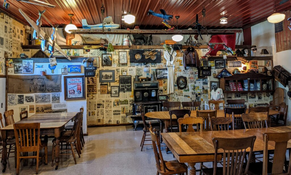 The back room at Crane's Pie Pantry in Fennville Michigan