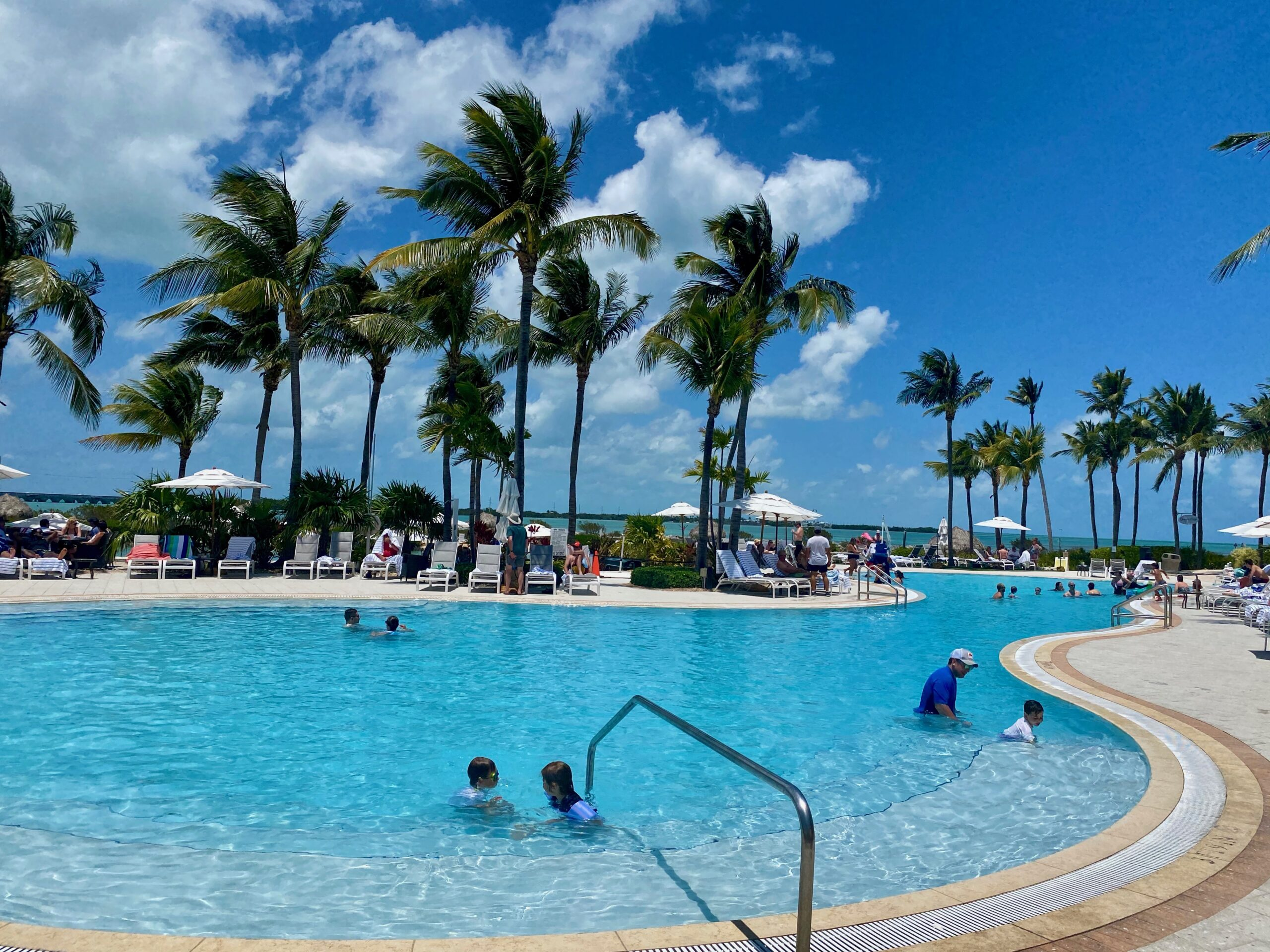 Playing in the pool at Hawks Cay Resort.