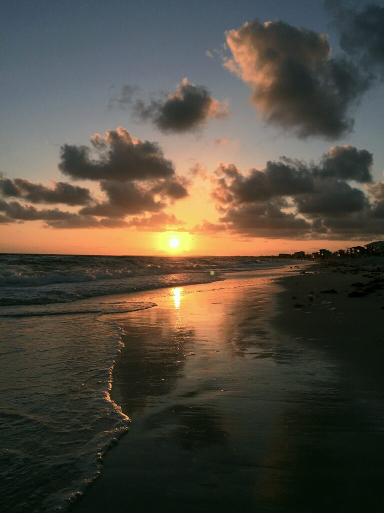 Sunset at the beach, one of the best things to do in Mexico Beach, FL