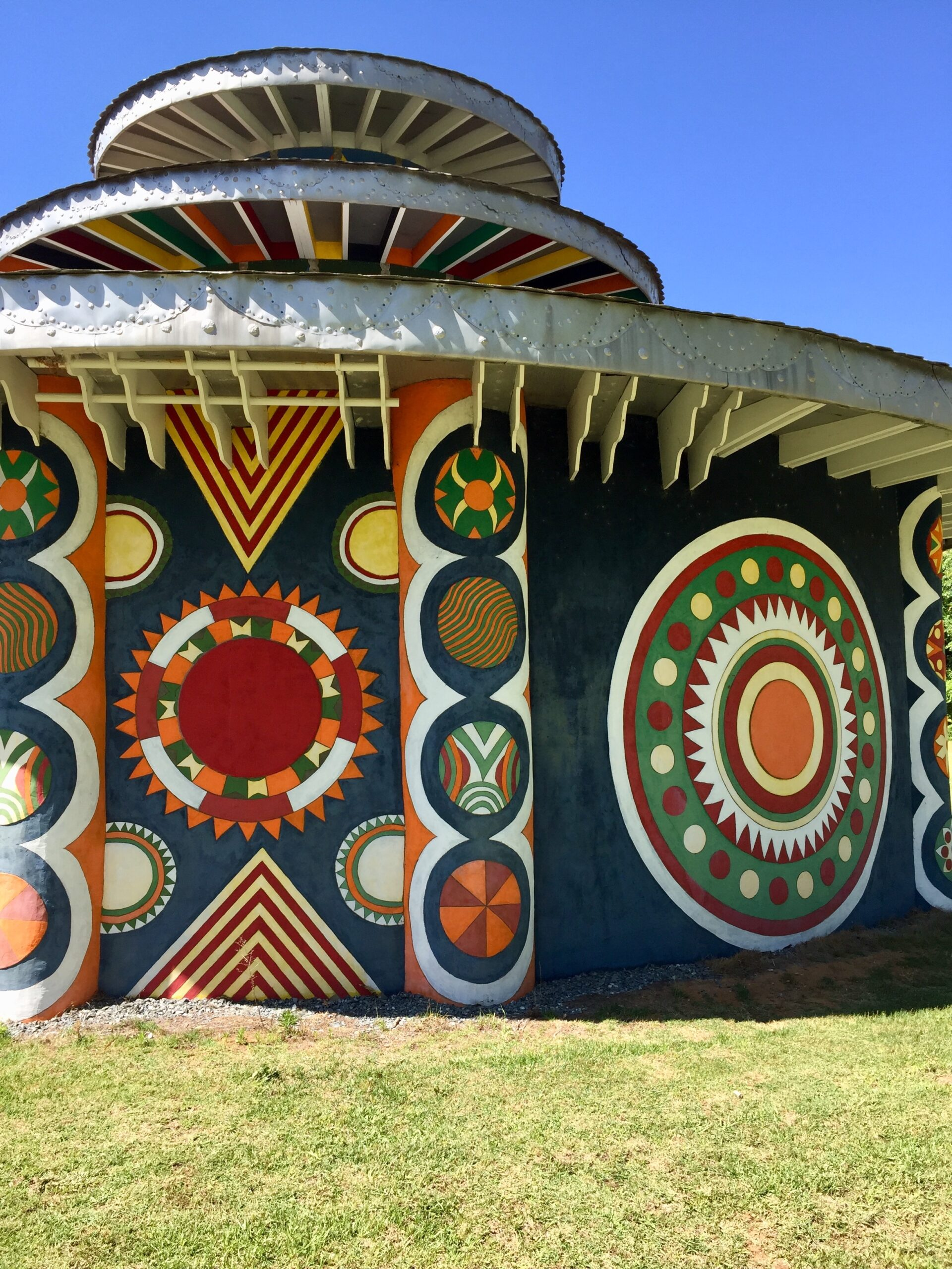 Brightly painted temple at Pasaquan Georgia