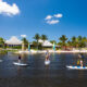 Paddleboarders at Club Med Sandpiper, an all inclusive resort in Florida