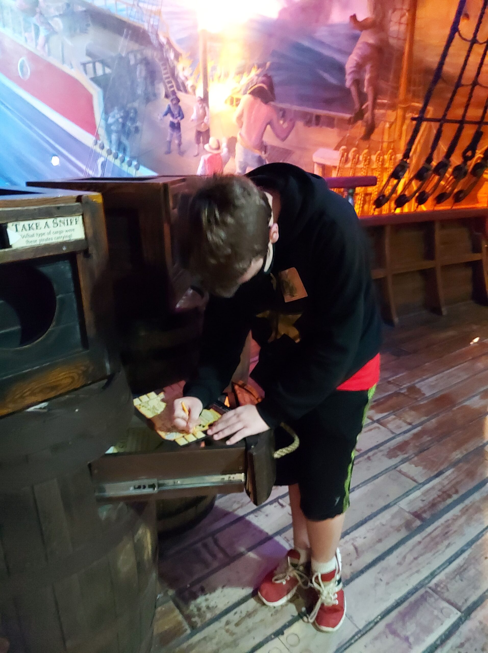 The scavenger hunt at the St. Augustine Pirate & Treasure Museum engages kids.