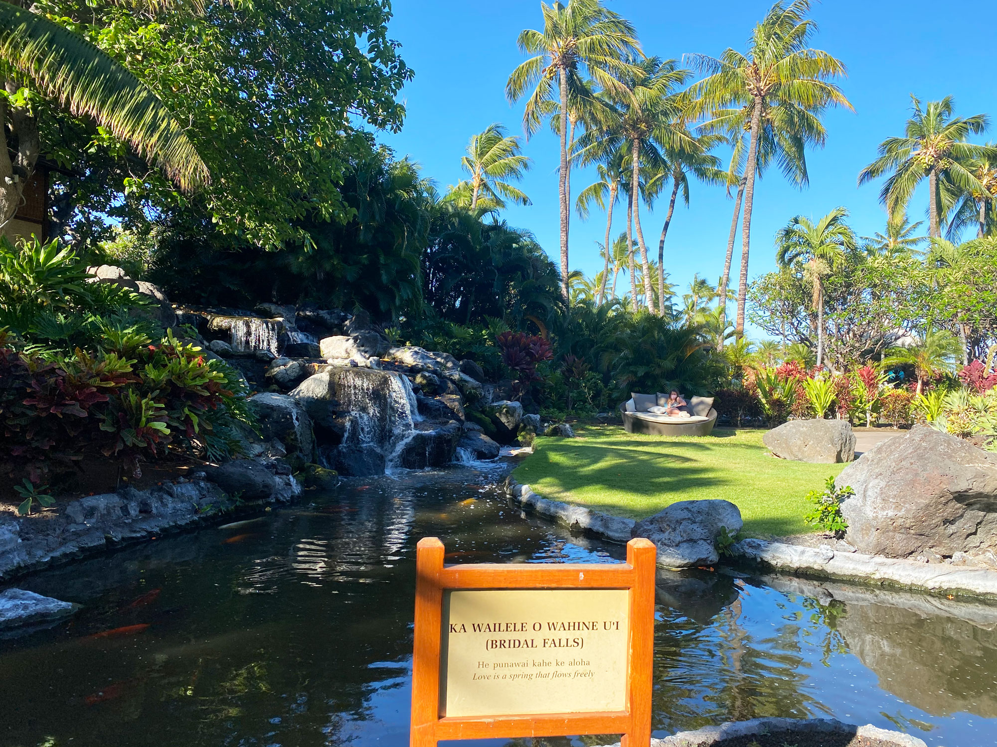 Fairmont Orchid review: serene grounds with waterfalls
