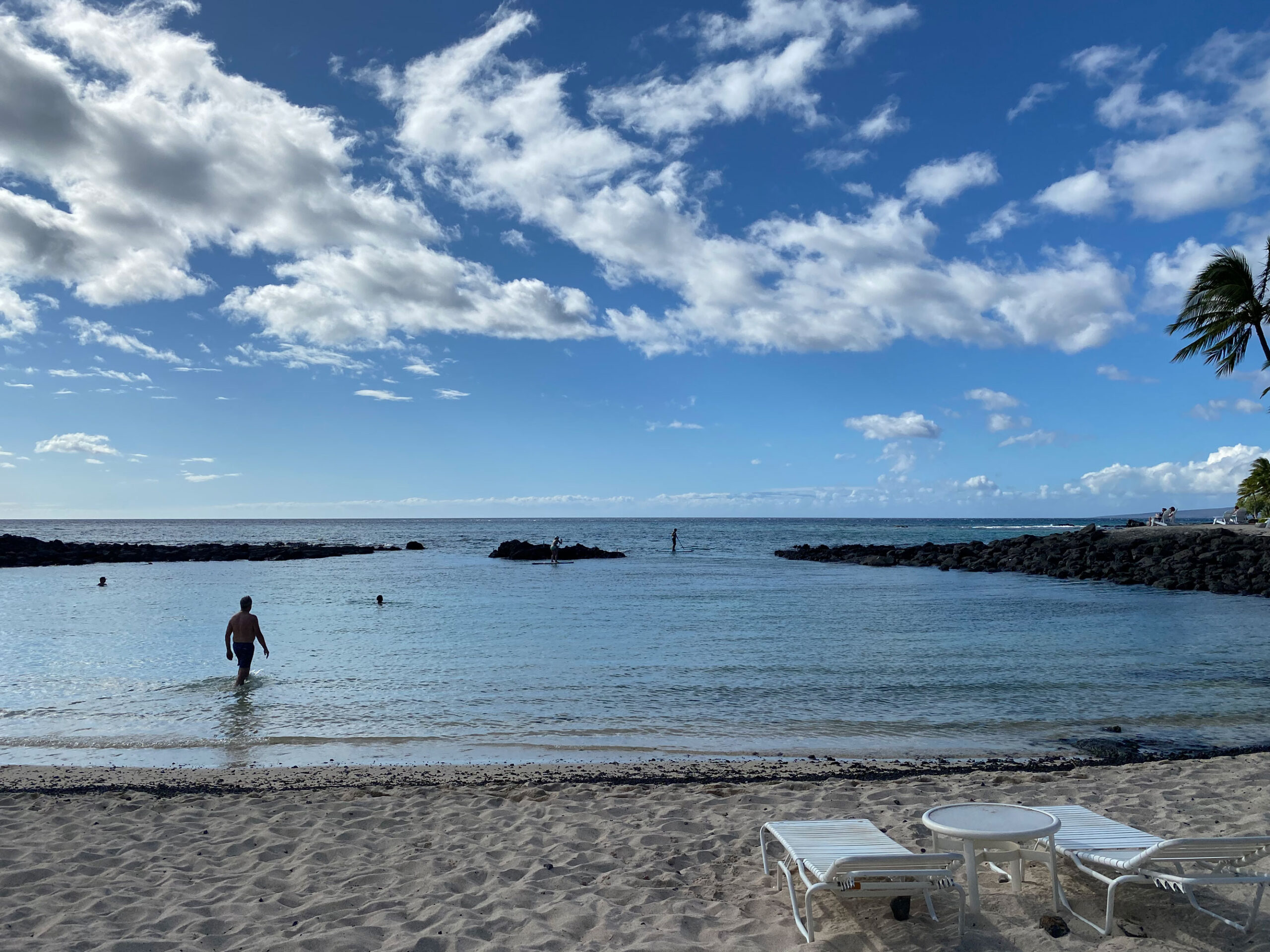 sandy beach at the fairmont orchid