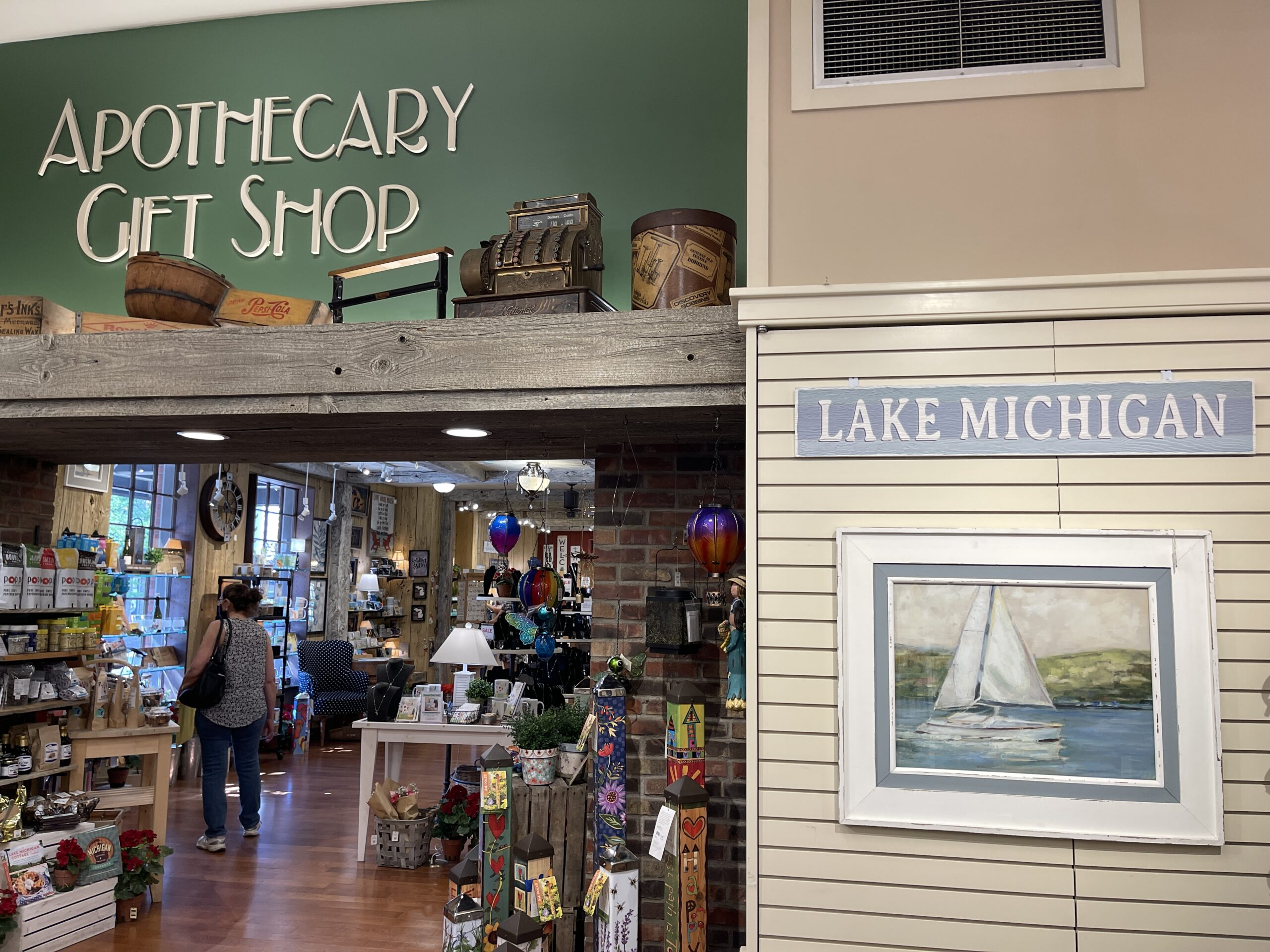 Inside the Apothecary Gift Shop in downtown Holland MI.