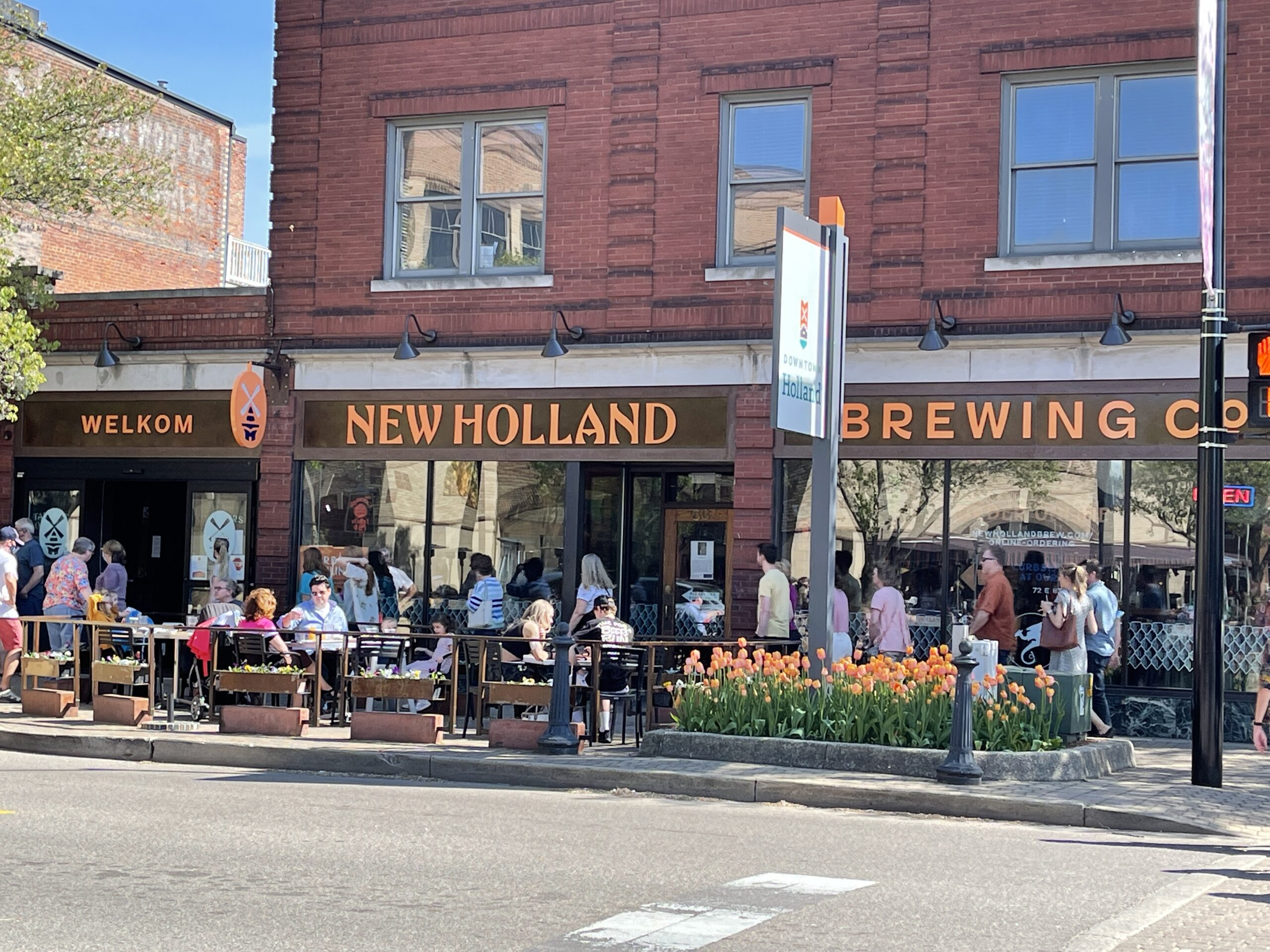 New Holland Brewing Company in downtown Holland MI.