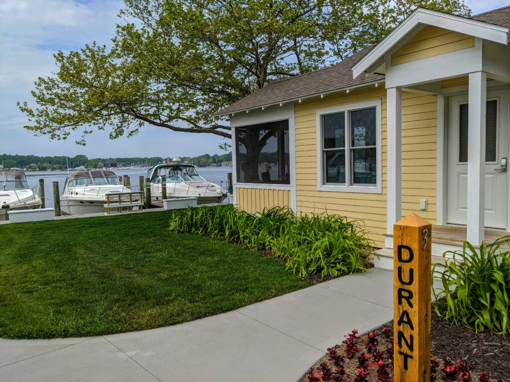 The Durant at Old Pike Cottages in Saugatuck Michigan.