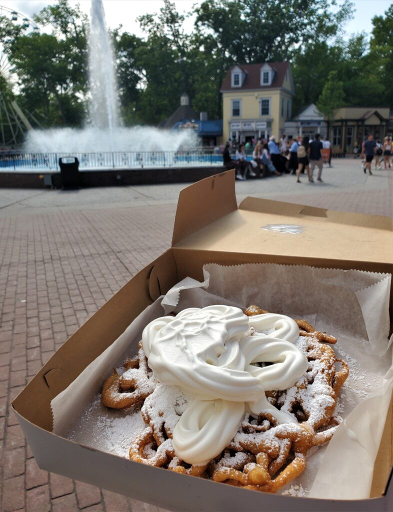 Funnel Cake at Six Flags Great Adventure