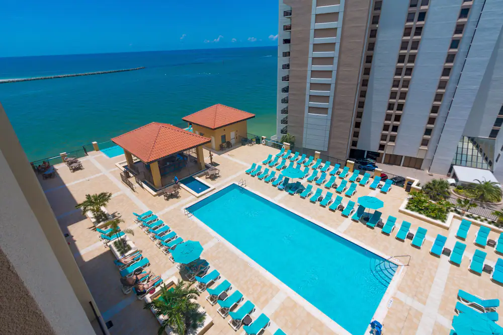 Pool area of the Edge Hotel in Clearwater Beach FL