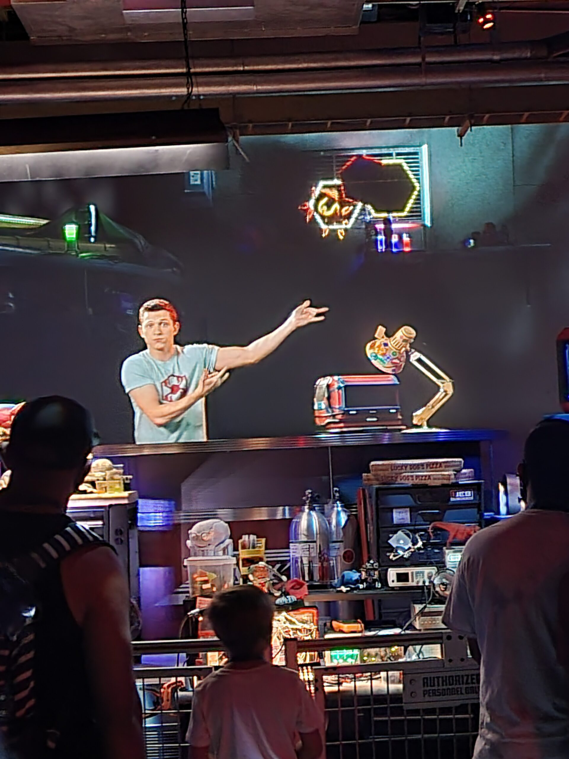 Tom Holland appears as Peter Parker in WEB SLINGERS: A Spider-Man Adventure at Avengers Campus Disneyland
