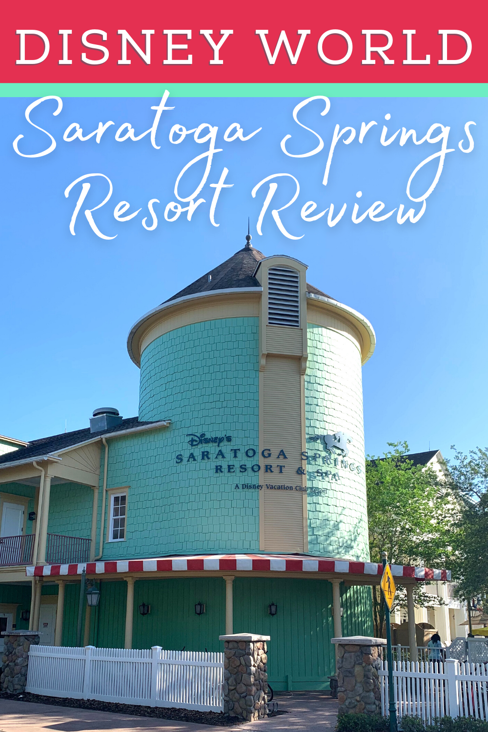 pin with words saratoga springs disney resort review and image of saratoga springs building