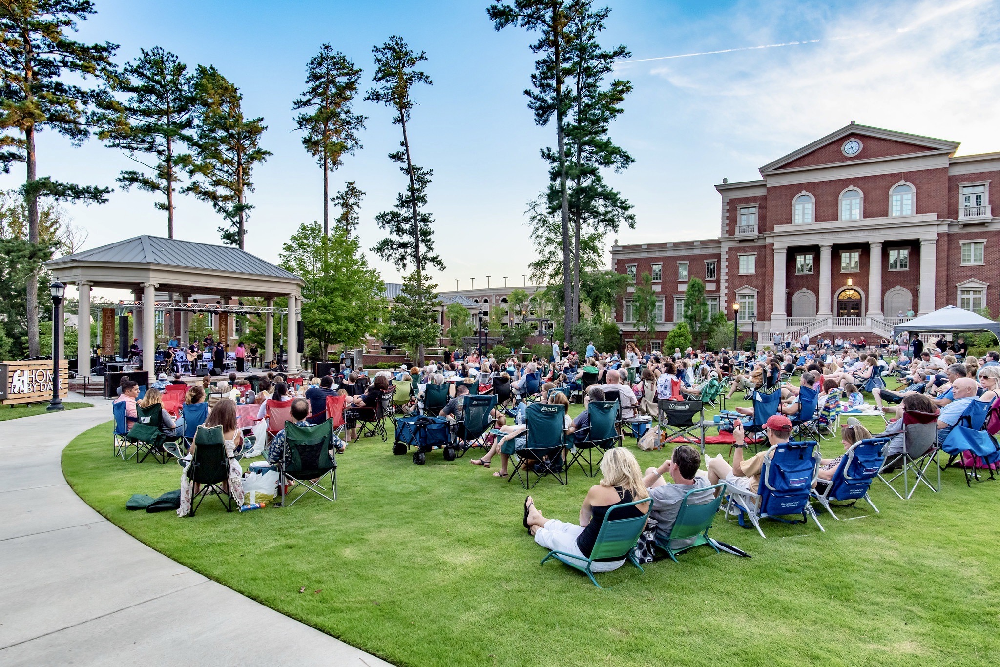 Free in Alpharetta can include outdoor concerts in spacious parks.