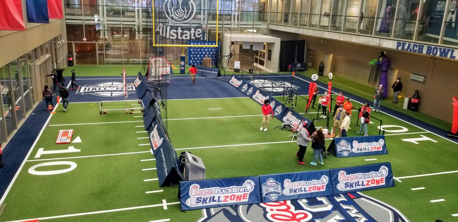 The Chick-fil-A College Football Hall of Fame is one of the most fun things to do in Atlanta with kids...even if you don't like football.