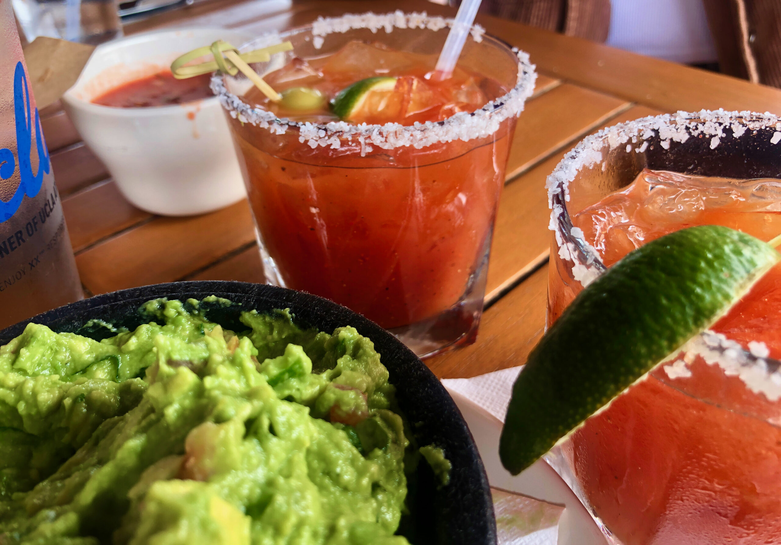 Specialty bottomless cocktails at brunch at La Vida Cantina, one of many costa mesa family restaurants.