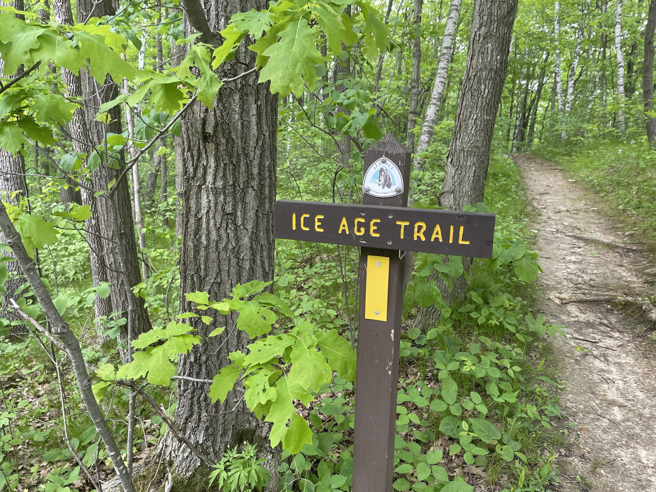 You can hike the Ice Age Trail in Elkhart Lake, WI.