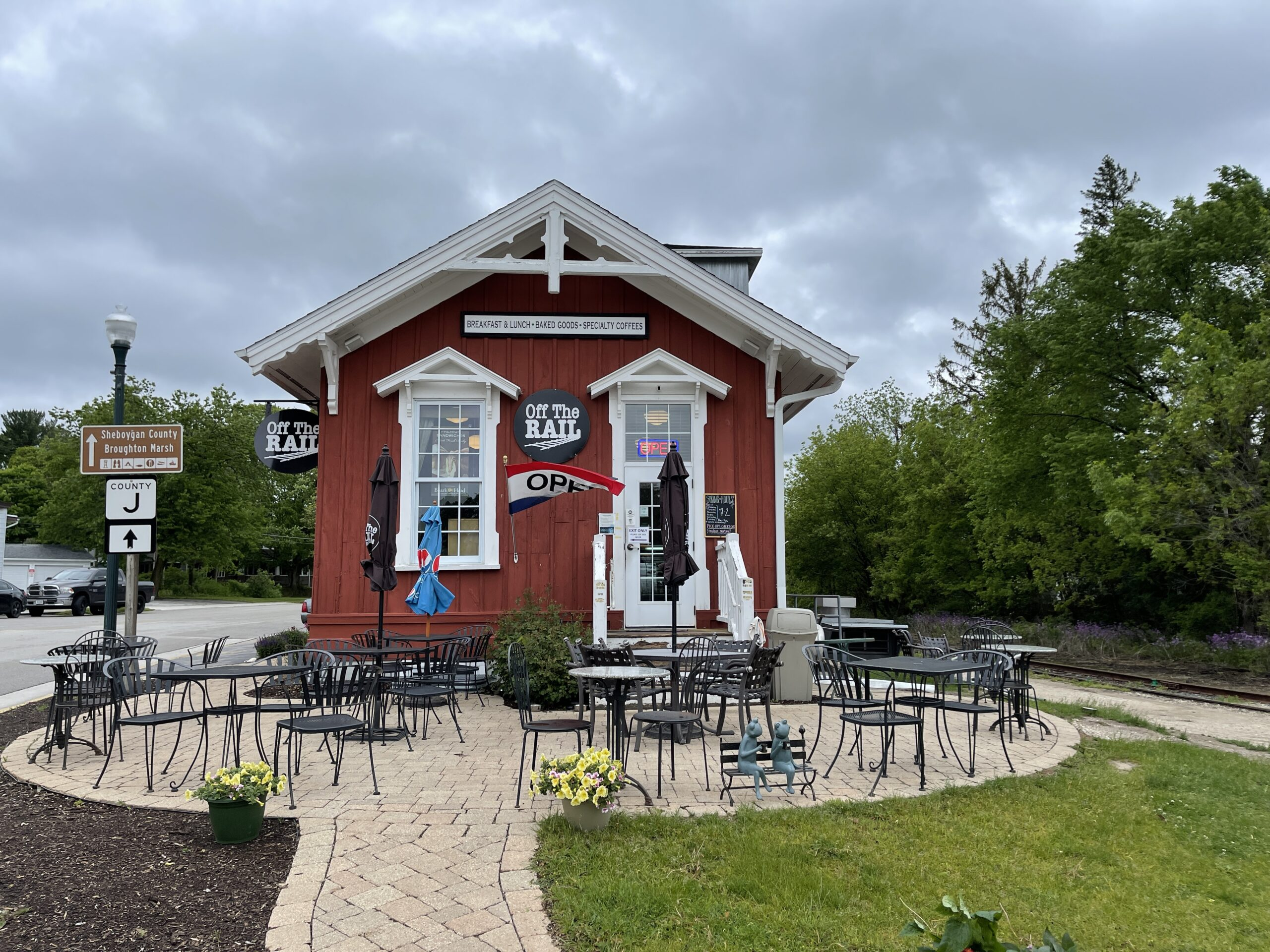 Off The Rail is one of the cutest elkhart lake restaurants.