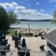the lake deck at the Osthoff resort offers beautiful views of Elkhart Lake.
