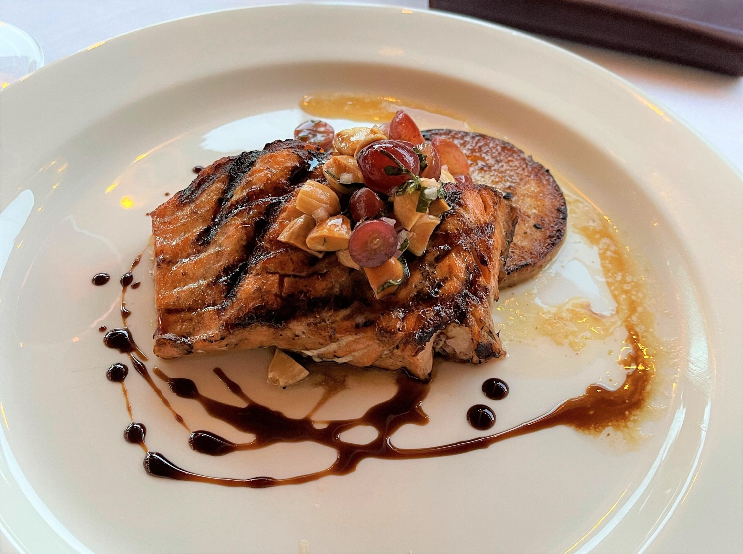 Grilled Salmon at P.A.M.'s Restaurant.