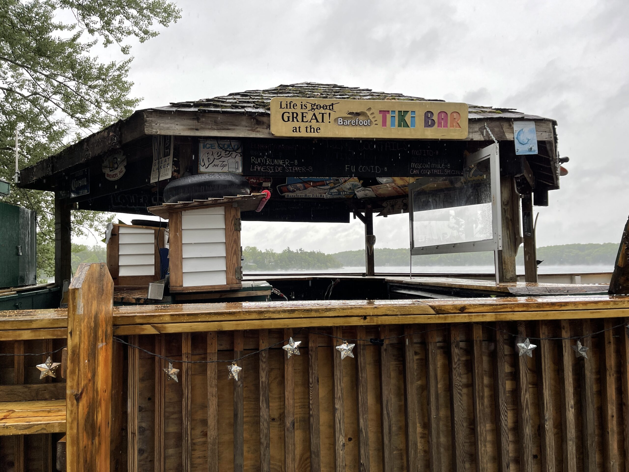 The Shore Club's Tiki Bar is one of the most popular elkhart lake restaurants.