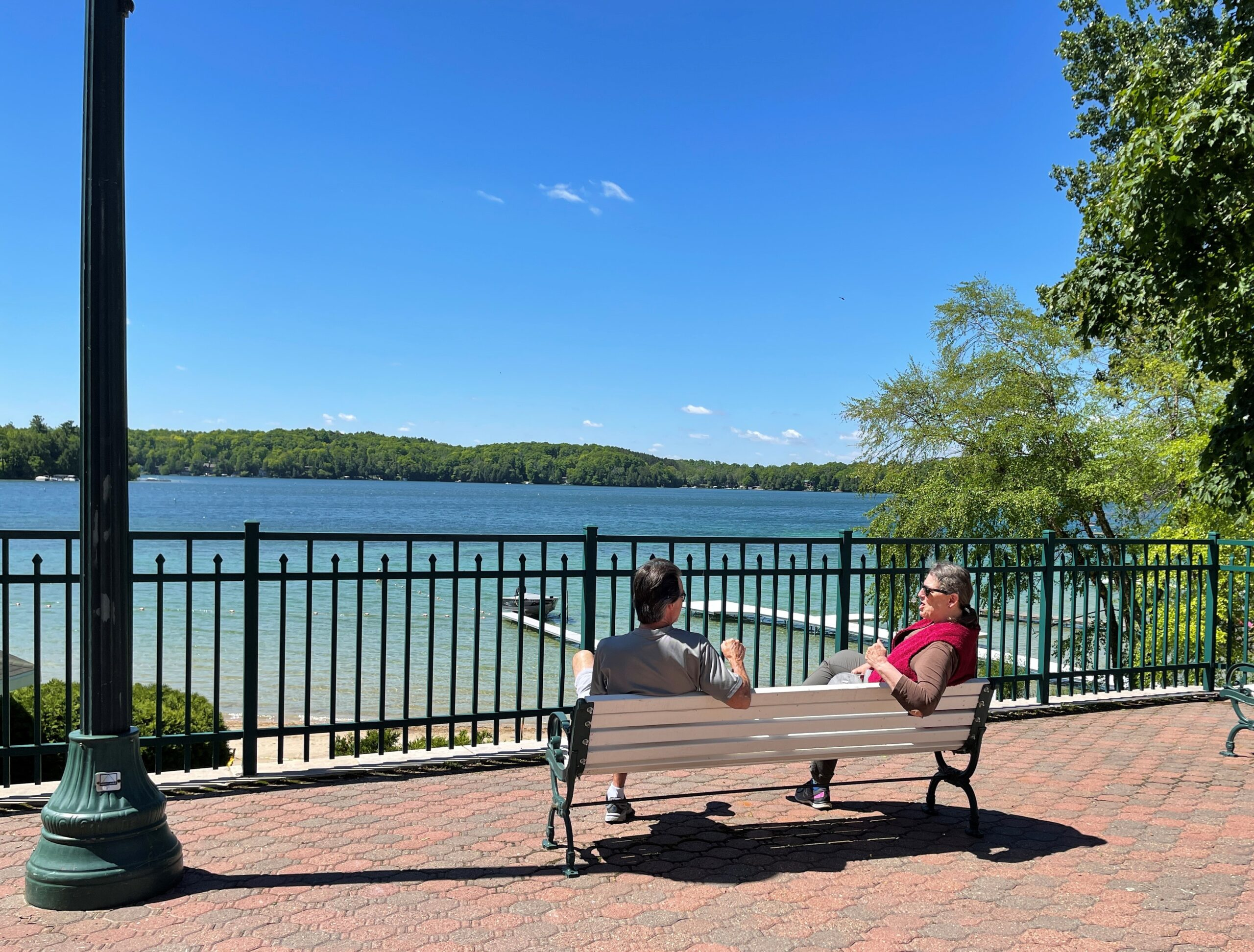 View of Elkhart Lake, WI waterfront.
