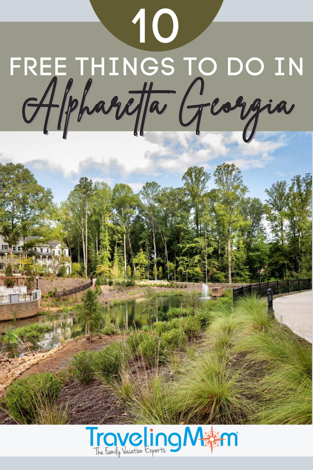 pin with text free in alpharetta georgia and wooded water area picture