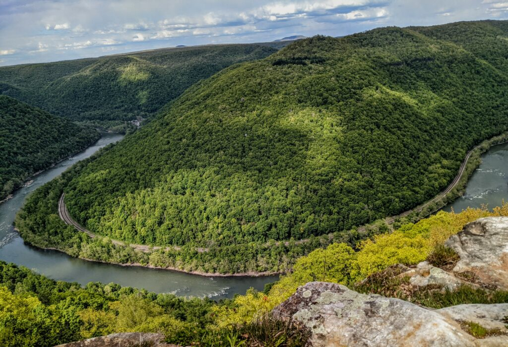 The New River in West Virginia, photographed from the Grandview Overlook