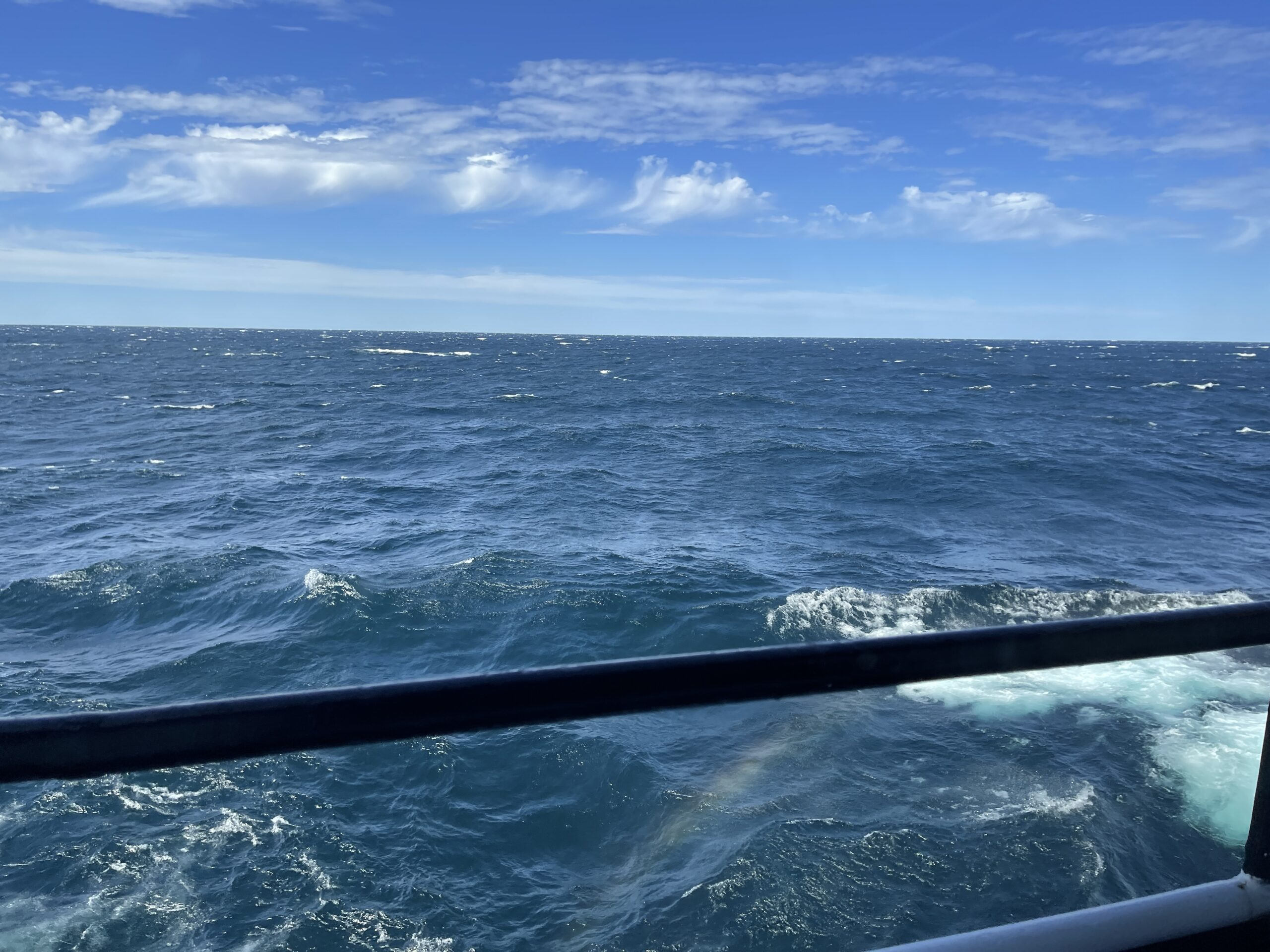 View of Lake Michigan from on board the SS Badger.